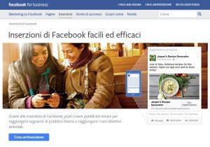 Facebook ads per acquisire clienti tramite landing page