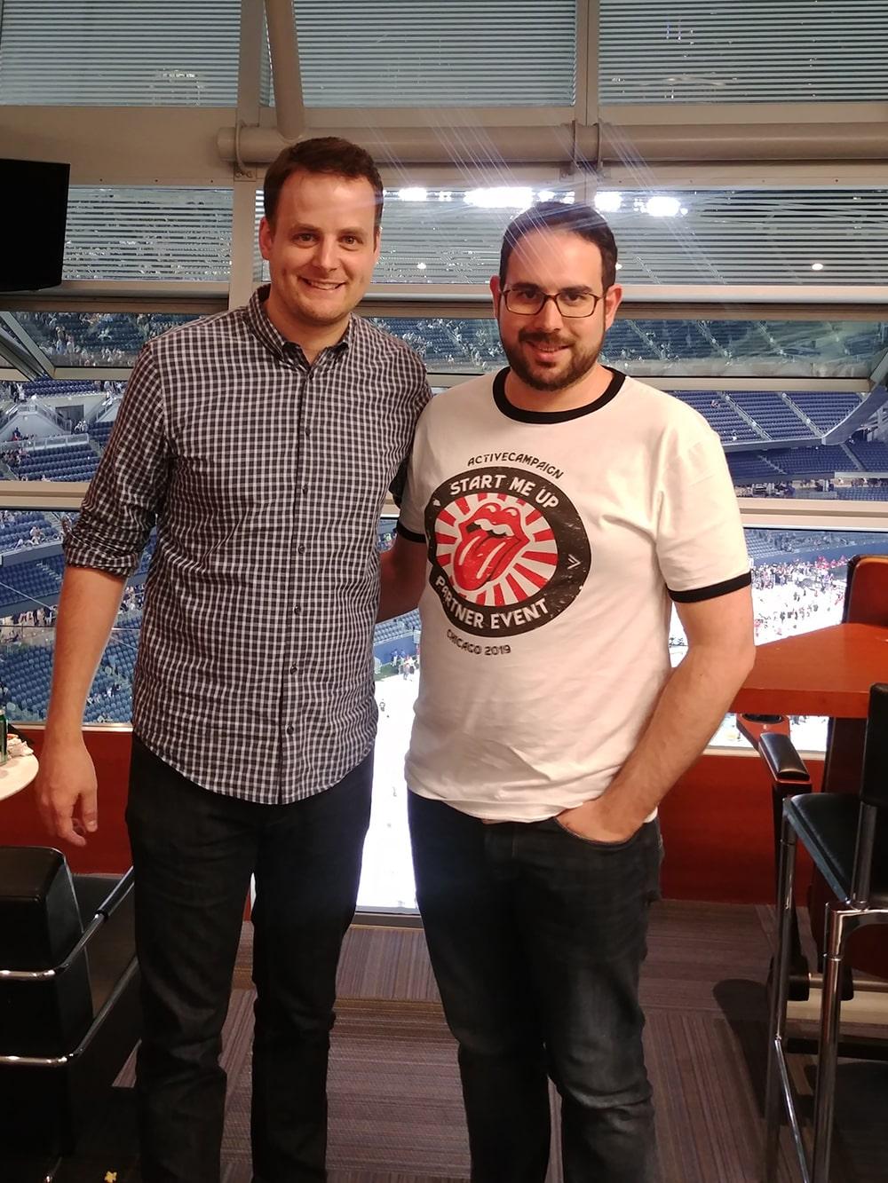 Roberto Tarzia con Jason VandeBoom, CEO Active Campaign